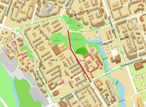 карта сургута улица ленина