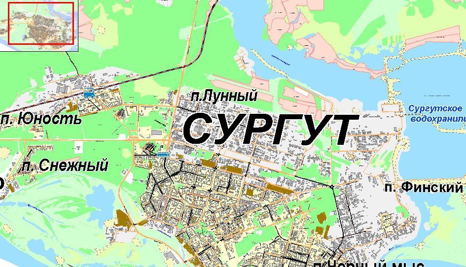 Карта ремонта дорог Сургута