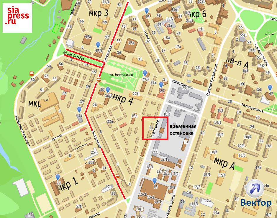 территории маршруты схемы