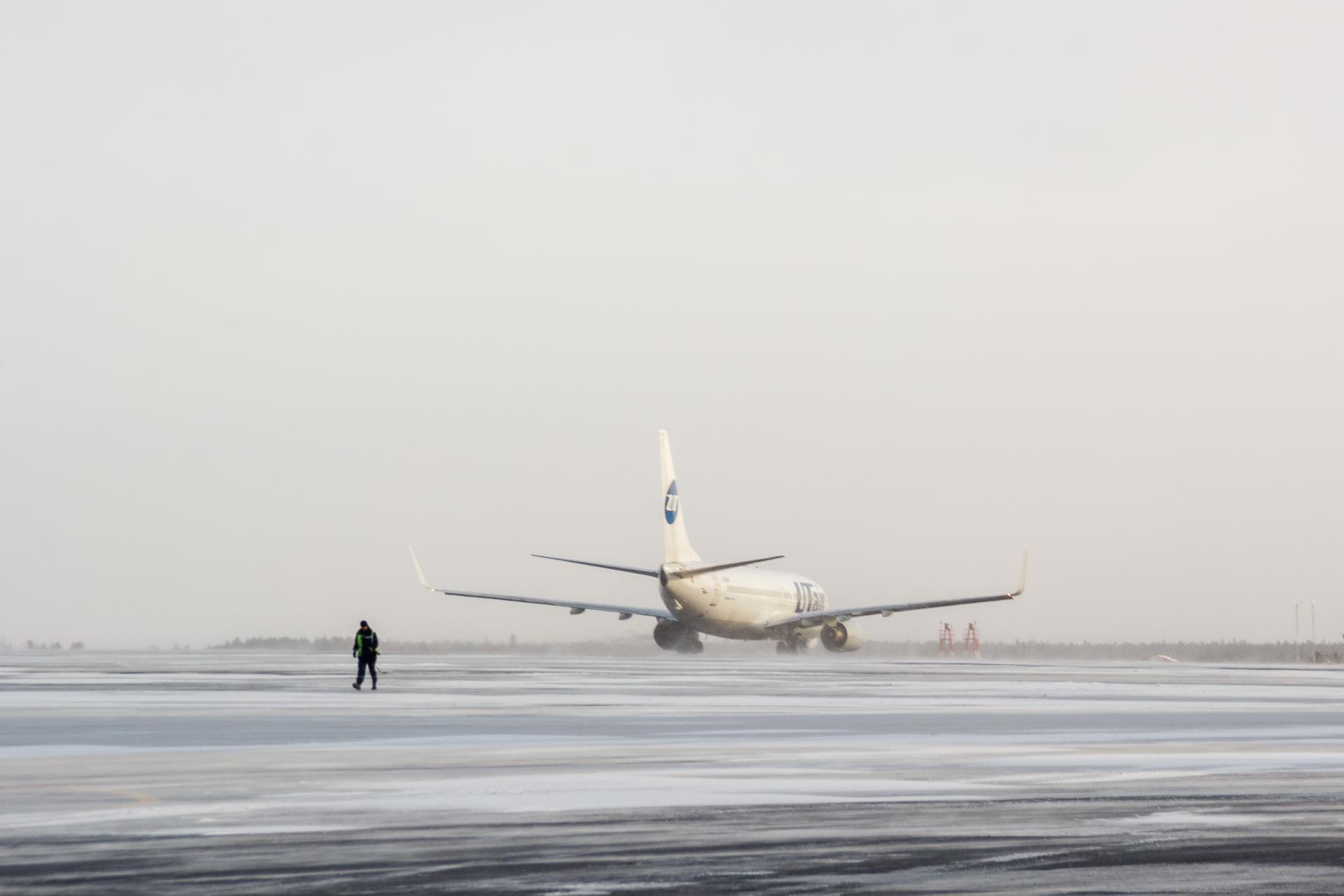 Ваэропорту Сургута из-за холодов задержаны рейсы