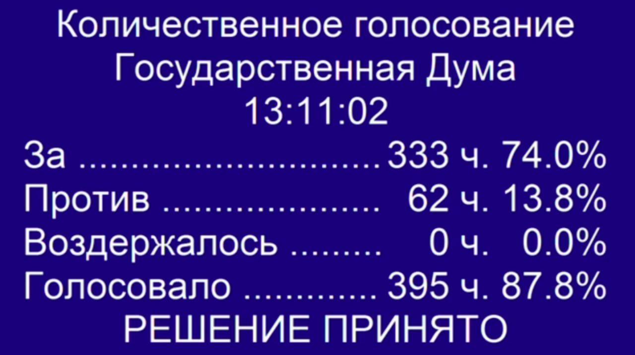 Государственная дума РФприняла закон оповышении пенсионного возраста
